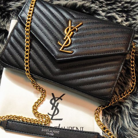 e6239af64b Hello guys this is a Yves Saint Laurent (YSL) envelope chain - Depop