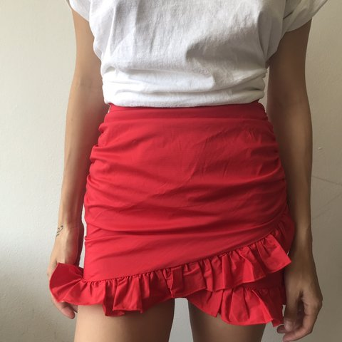 a683ca6159 Flirty Red skirt from Tigermist. Fits xs to small - Depop