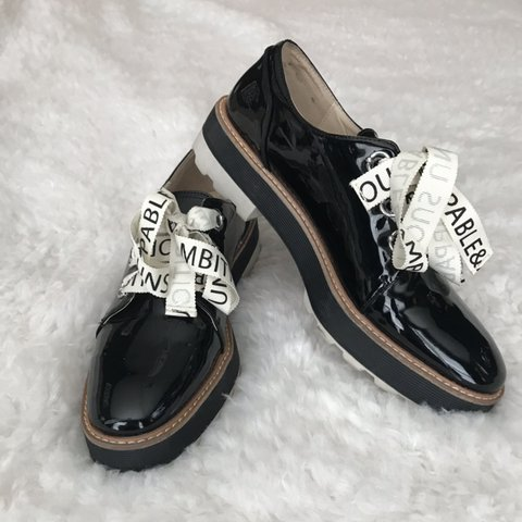 a3c3deb99b @khx_exe. in 18 hours. Cumming, United States. Zara black platform oxford  shoes ...