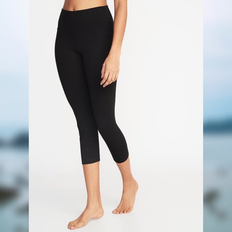 50be7ce0c3aaa @a_lauren90. in 6 hours. Redondo Beach, United States. Old Navy Go-Dry  Black Crop Leggings ...