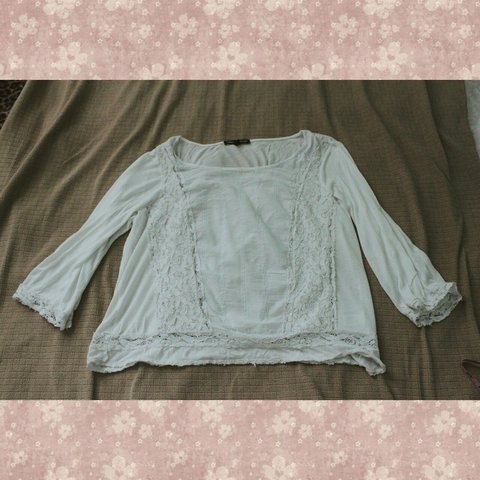 e4c179902fb9e1 LACEY WHITE BLOUSE SHIRT LATE 90s GENUINE VINTAGE WITH ON / - Depop