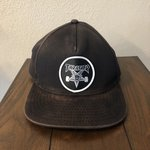 d86e48ab Thrasher shallow SnapBack hat with small stains #thrasher - Depop