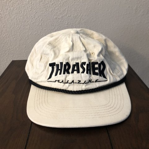 4760763b @jaronthrossel. 10 days ago. Eureka, United States. Thrasher shallow  SnapBack hat with small stains
