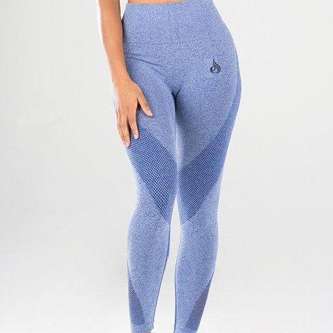 dfbc463c0a3652 SEAMLESS TIGHTS BLUE MARLE RYDERWEAR - worn only once - in - Depop