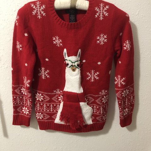 Llama Christmas Sweater.Listed On Depop By Pstaigle