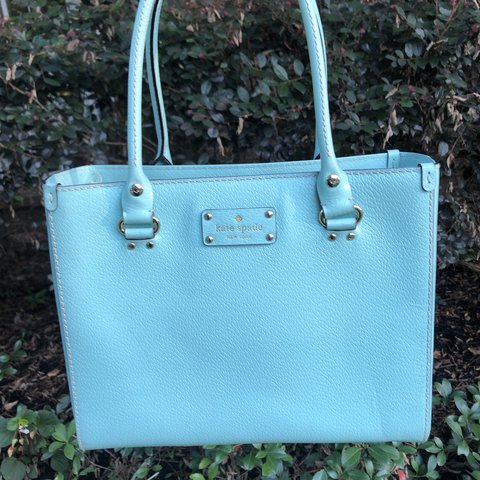 a18a15cdd Kate Spade Bag/Purse Wellesley Quinn style Color is tiffany - Depop