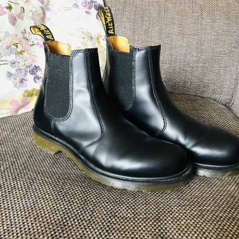 Dr Martens Black 2976 Chelsea Boot with Yellow Depop