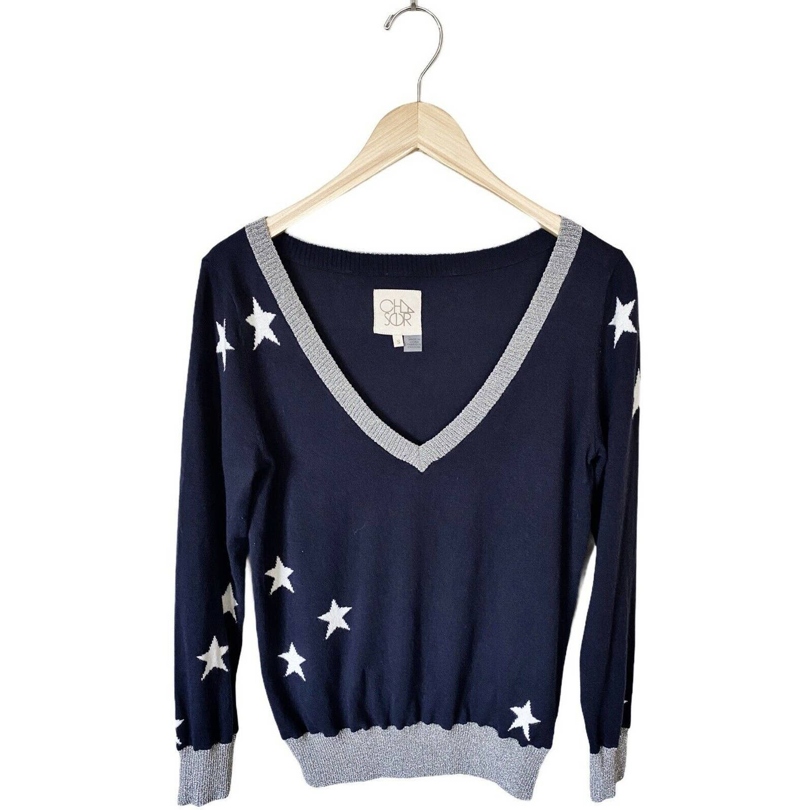 Product Image 1 - CHASER Intarsia Pullover Sweater V
