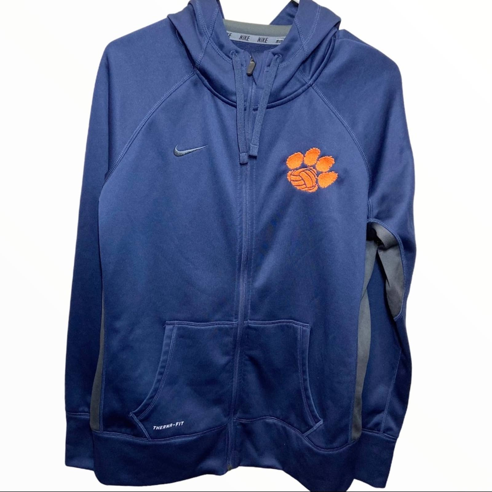 Product Image 1 - NIKE CLEMSON HOODIE EMBROIDERED THERMA