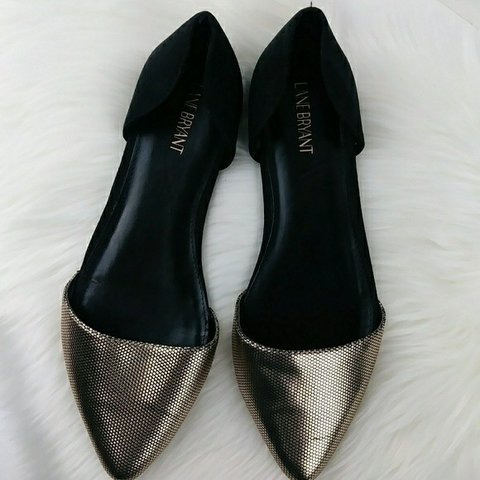 b0901bd4f Gorgeous Lane Bryant Size 12 Wide Pointed Toe Mixed Shimmer - Depop