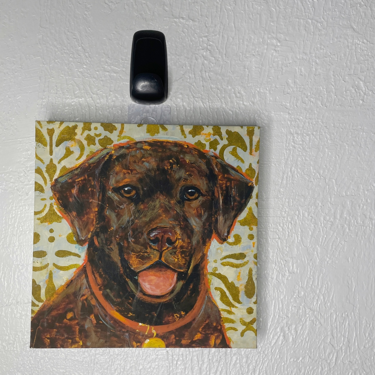 Product Image 1 - •Chocolate Lab Dog Canvas Painting!  •Size-(13.5x13.5)  •Condition-No