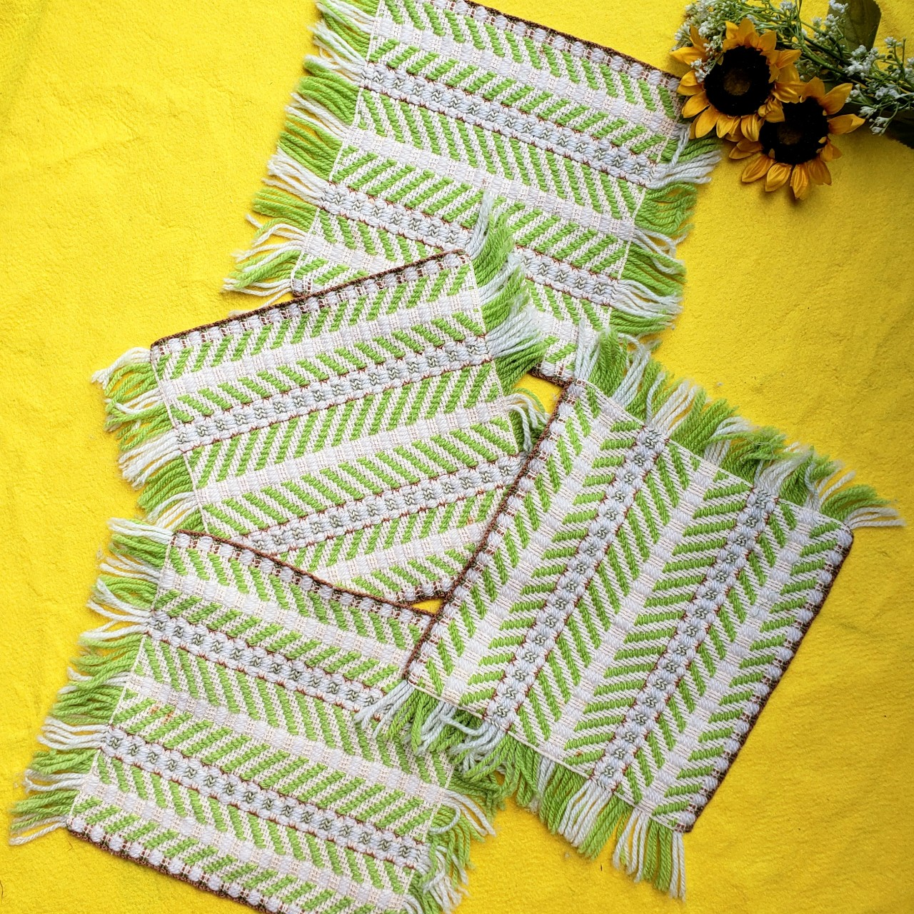 Product Image 1 - Vintage 70s Woven Yarn Placemats