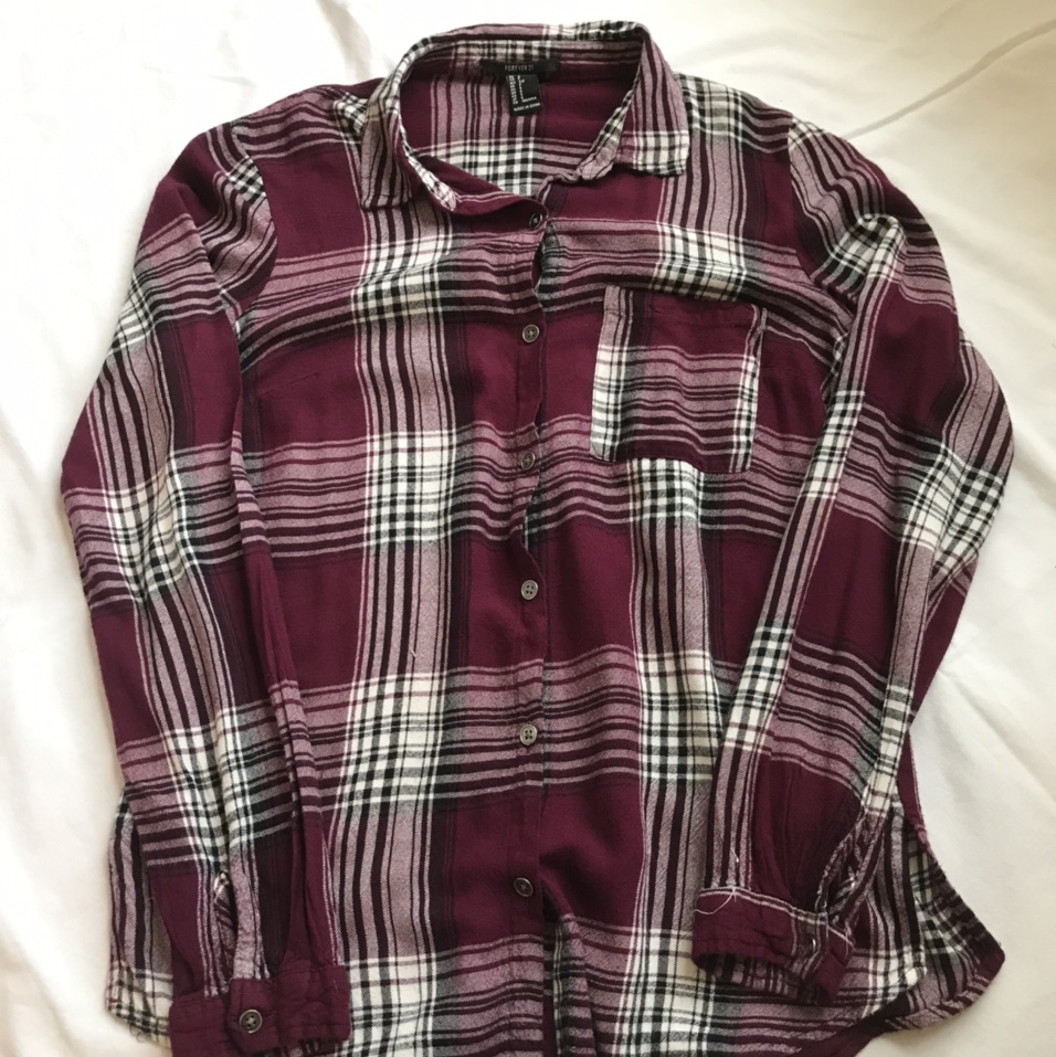 Product Image 1 - Maroon plaid button up looks identical