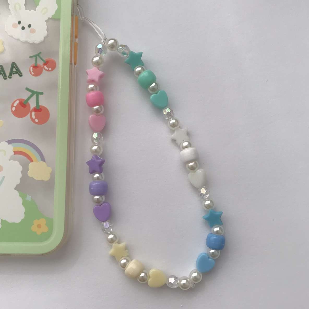 Product Image 1 - heart star pastel beaded phone