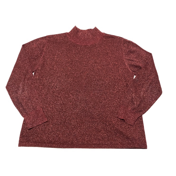 Product Image 1 - Vintage Red Sparkly Turtleneck Tee