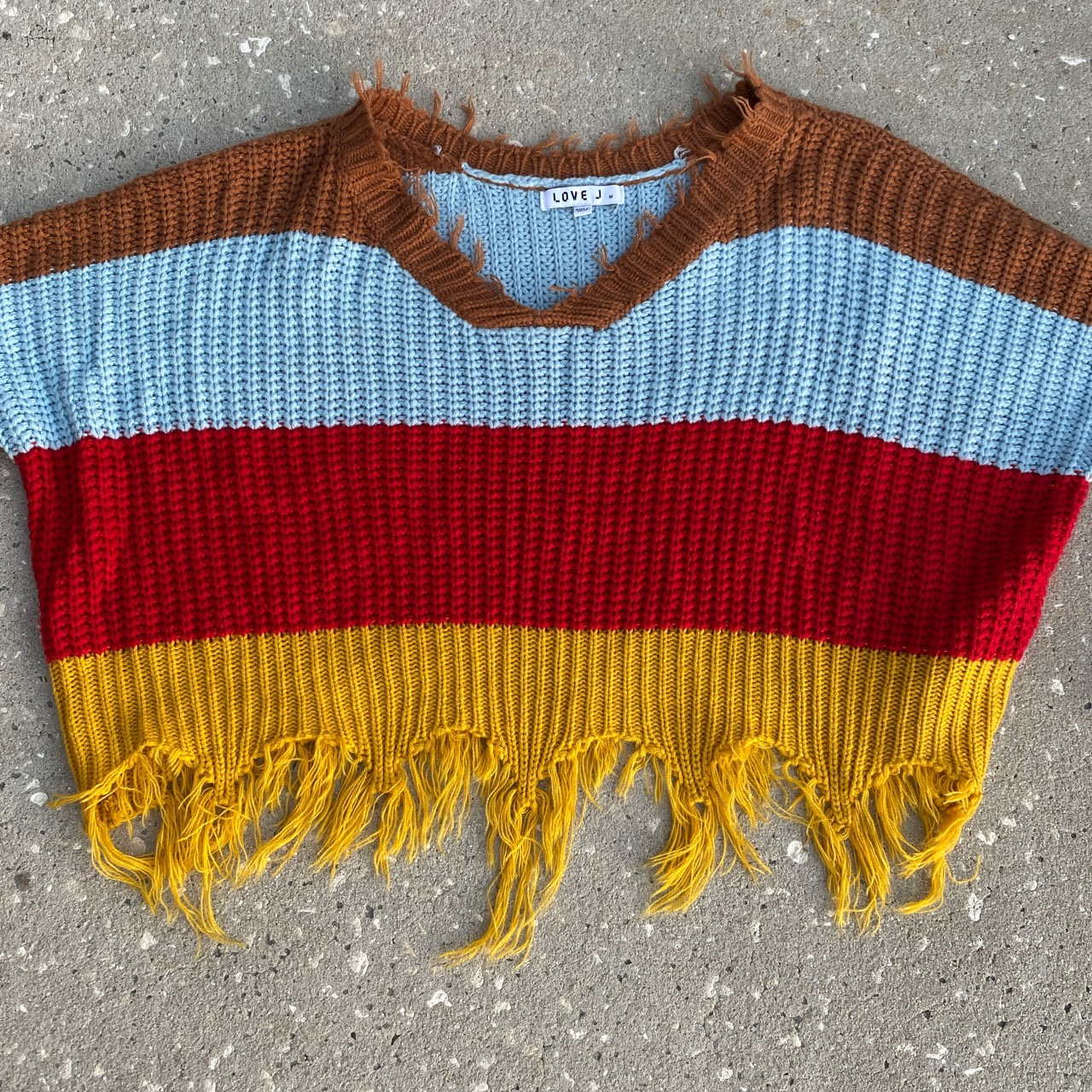 Product Image 1 - Love J multicolored striped Cropped