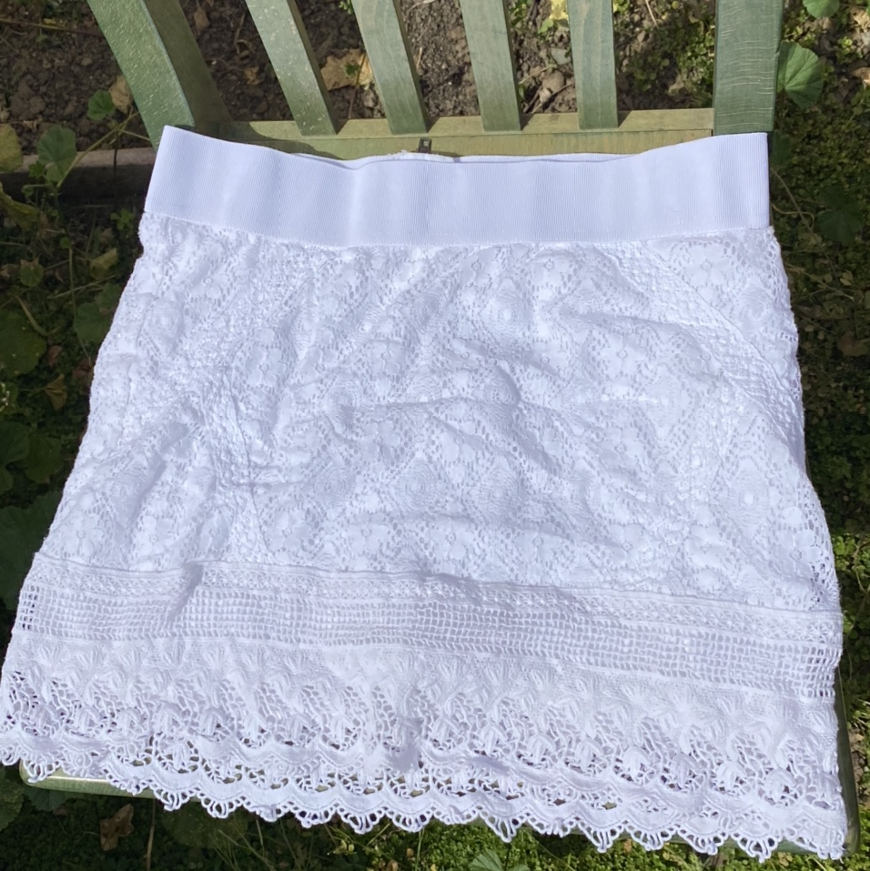 Product Image 1 - white lace skirt from american