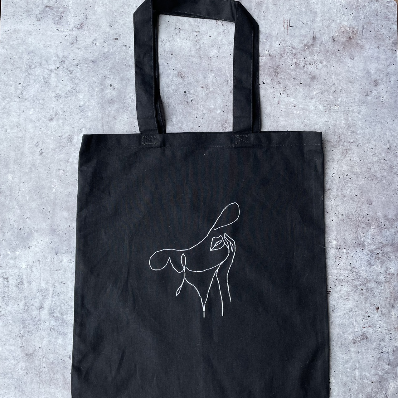 Product Image 1 - handmade embroidered canvas tote bag
