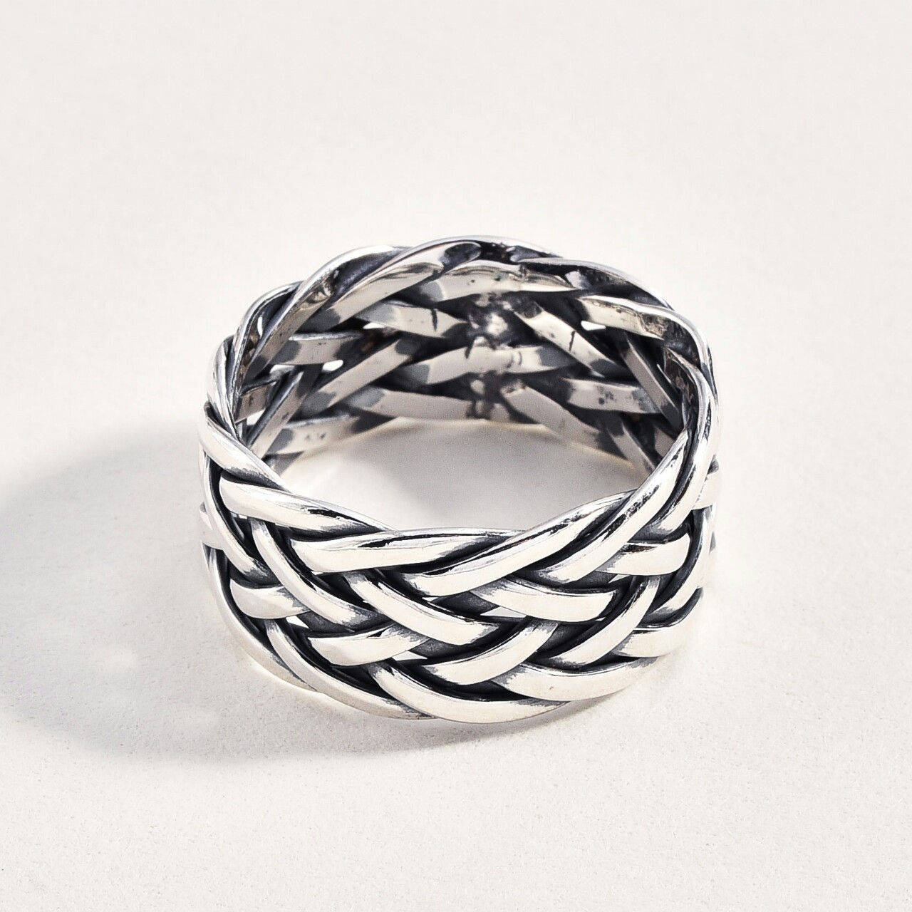 Product Image 1 - Sterling 925 Woven Ring Size 11  Sterling
