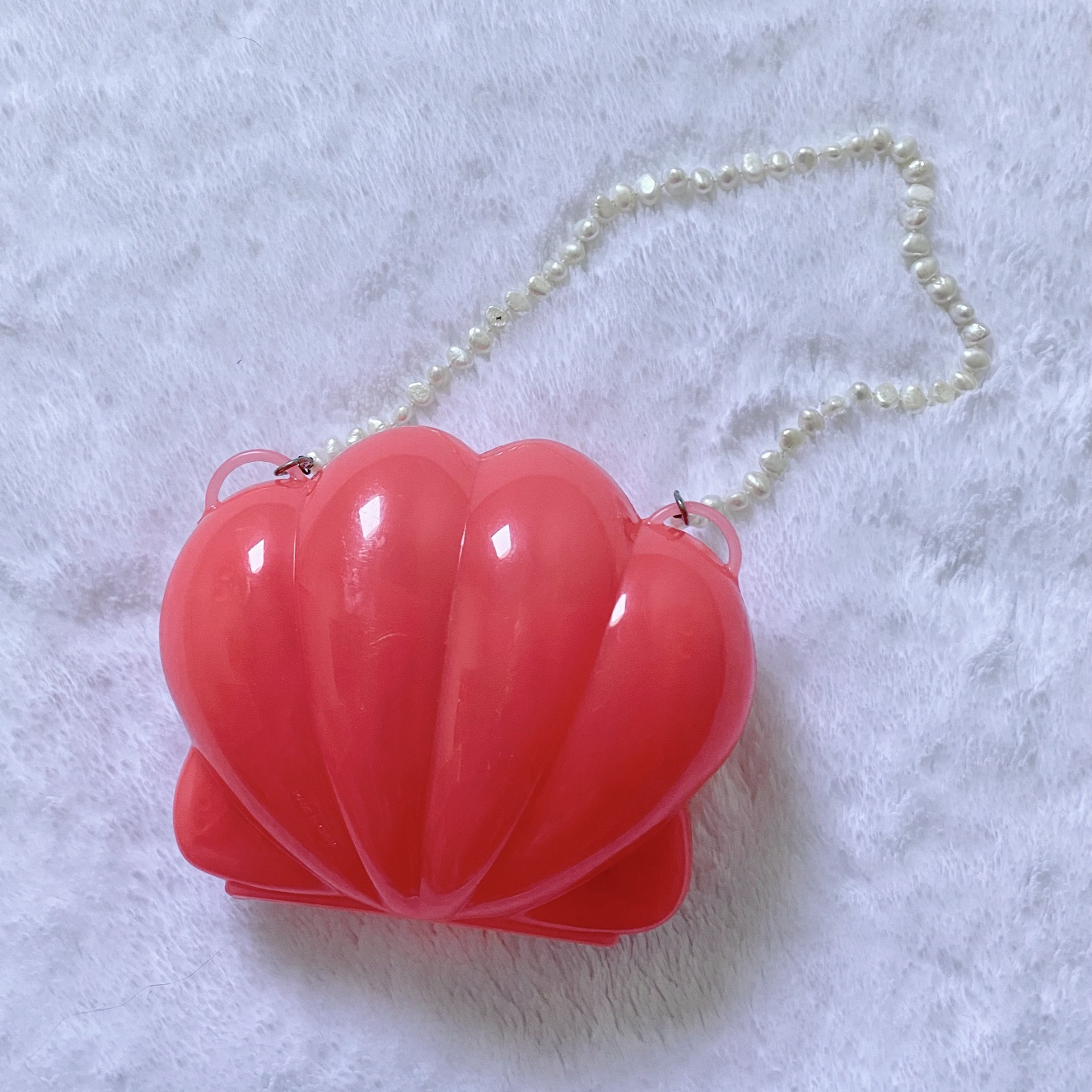 Product Image 1 - Custom coral pink shell purse! No