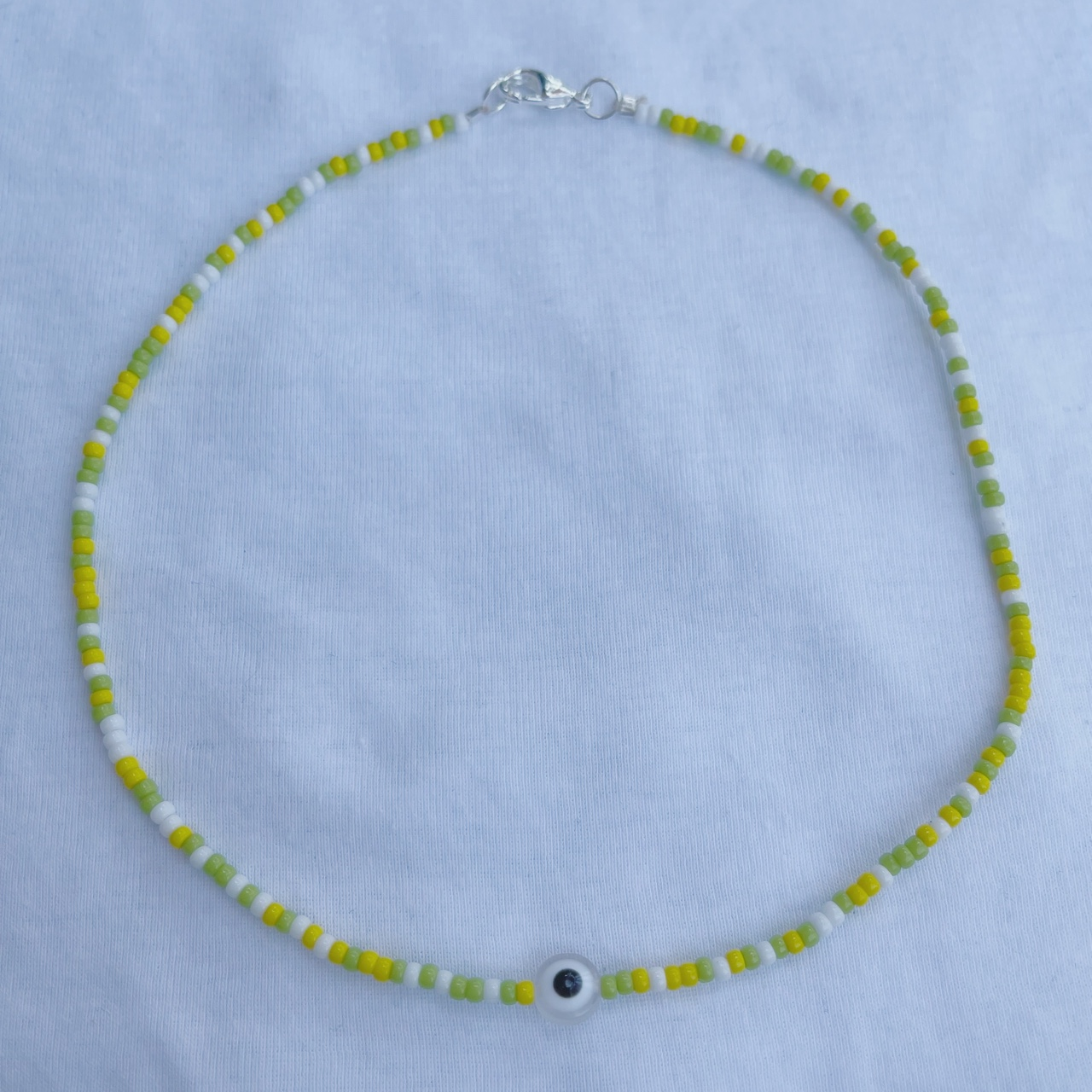 Product Image 1 - white, yellow, and green beaded