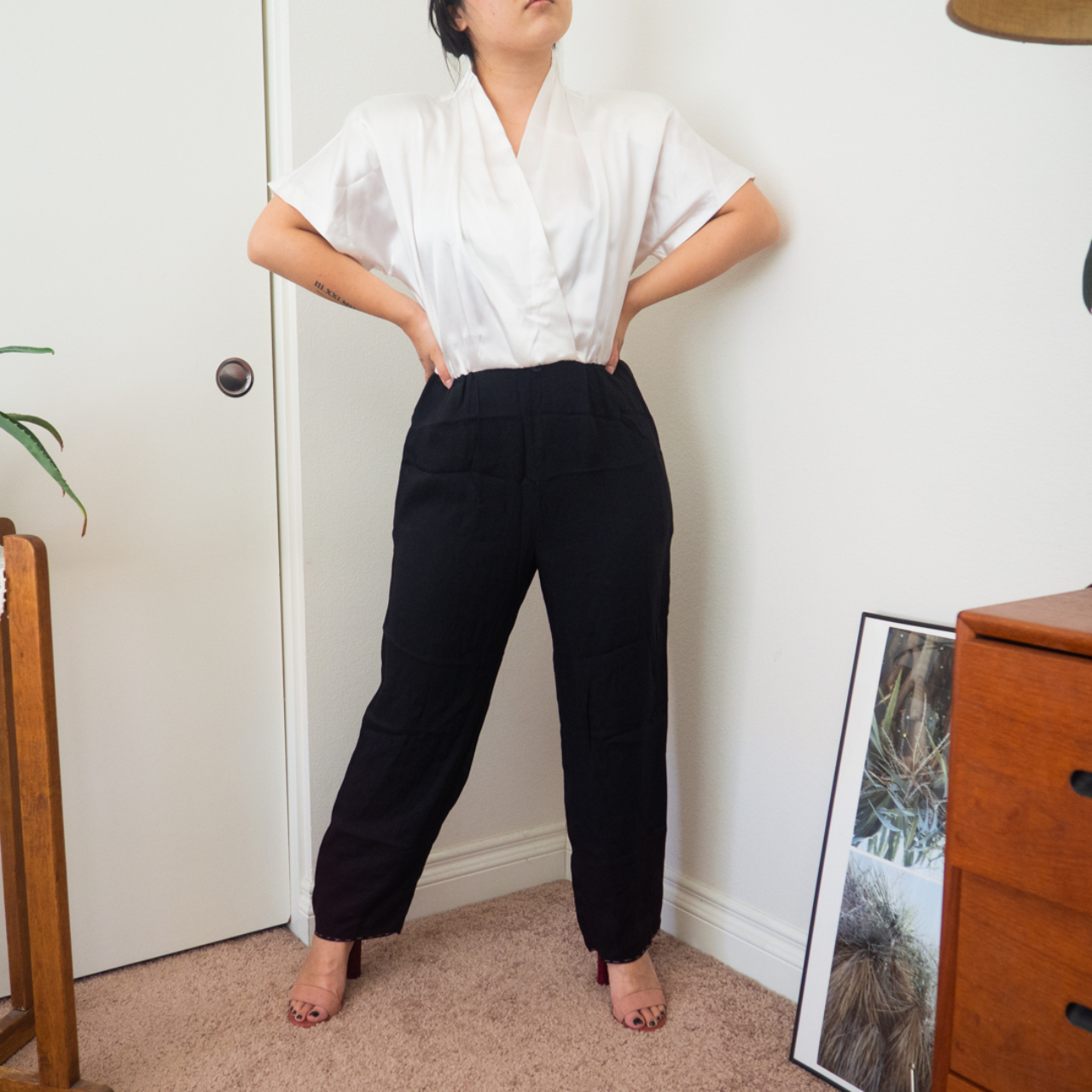 Product Image 1 - 80s Jumpsuit. Black and white.
