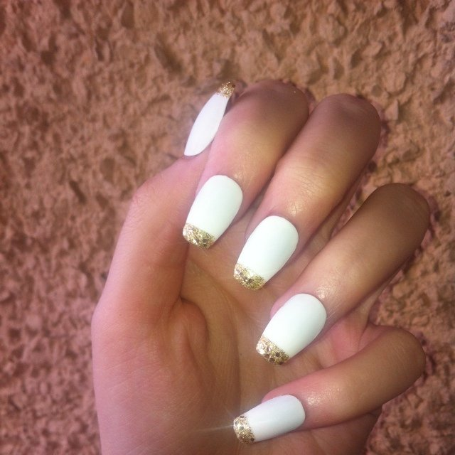 Square White Tip Nails Matte White Square False Nails