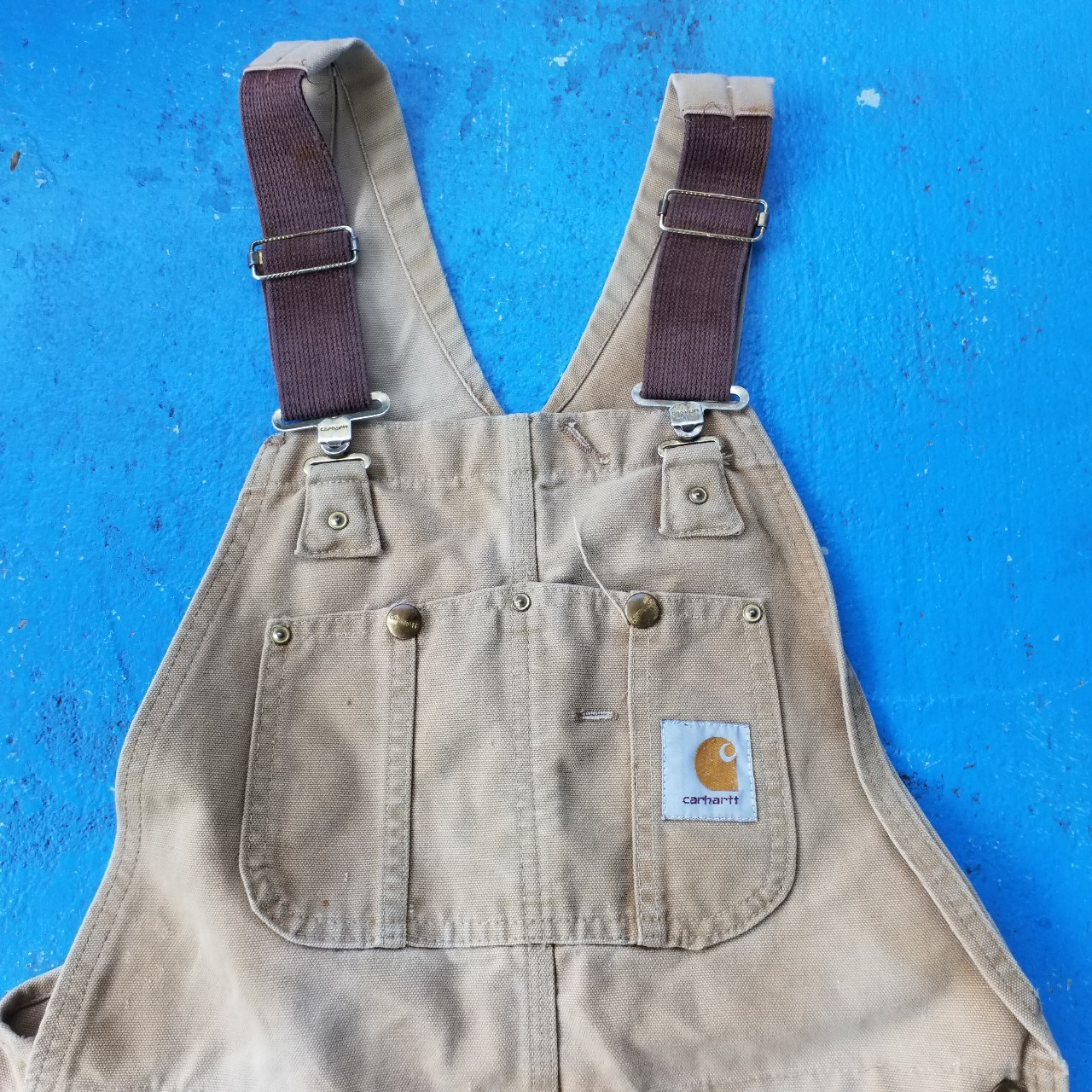 Product Image 1 - Vintage carhartt distressed overalls great