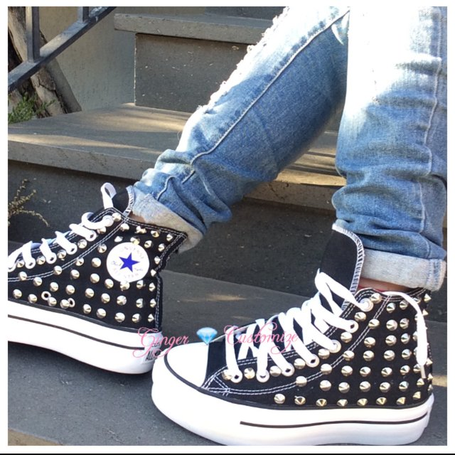 converse platform all star nere