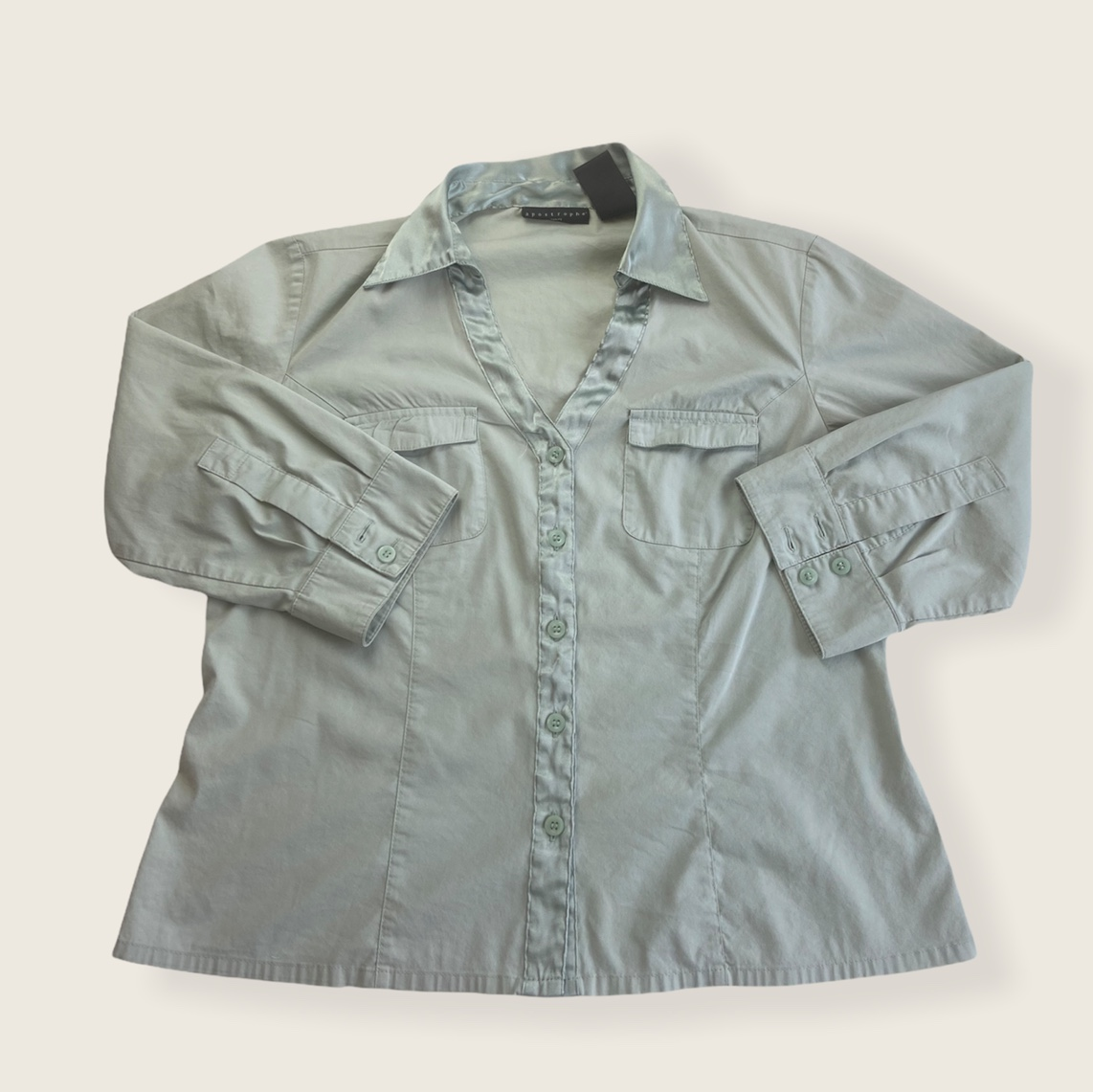 Product Image 1 - Button Up Blouse light green button