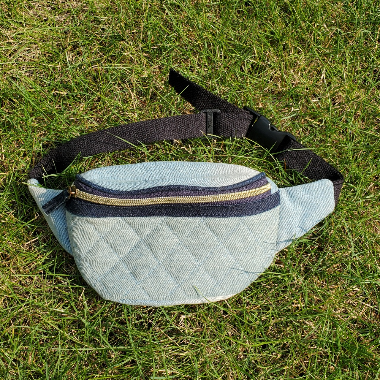 Product Image 1 - Blue denim quilted fanny pack.