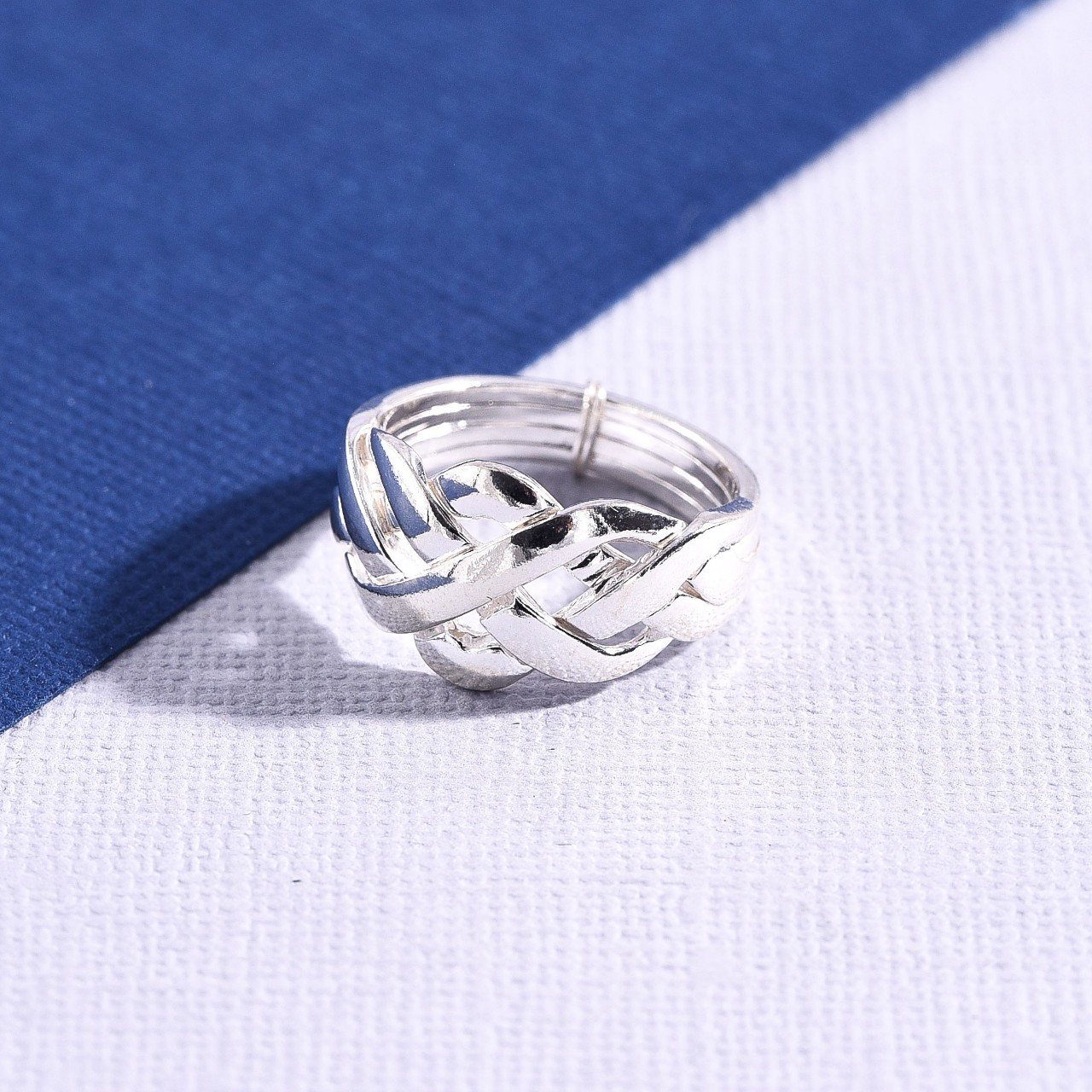 Product Image 1 - Sterling Silver Puzzle Ring  Size 7  Will