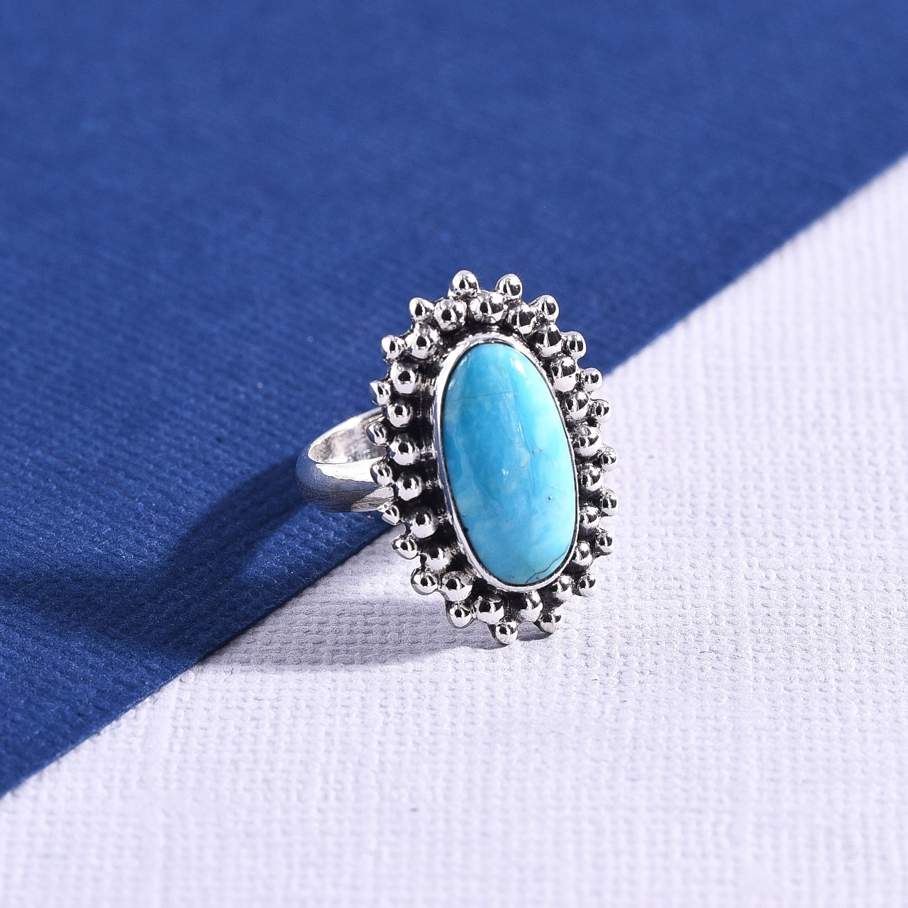 Product Image 1 - Sterling Silver Arizona Turquoise Ring  Size