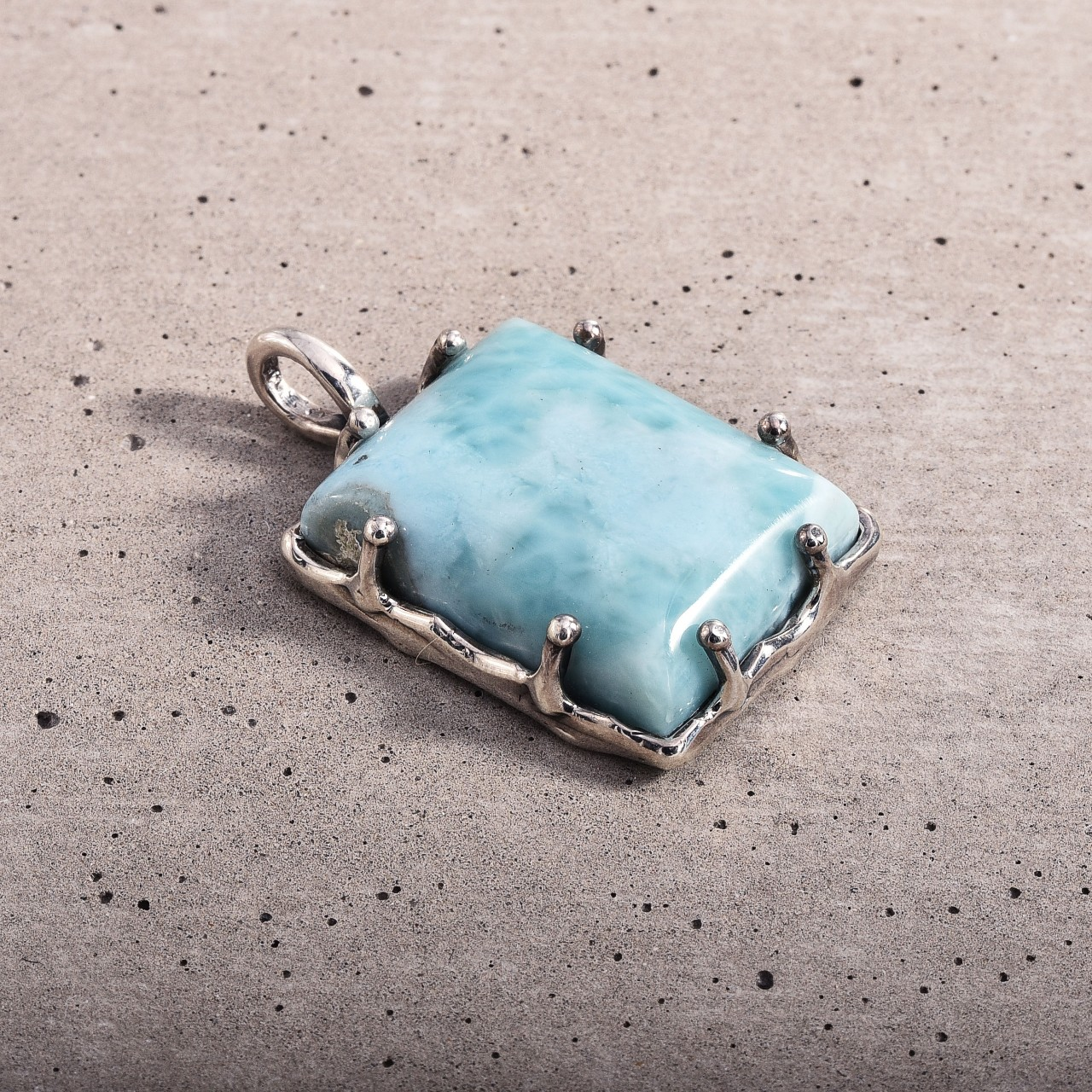 Product Image 1 - Sterling 950 Larimar Pendant  Hand made