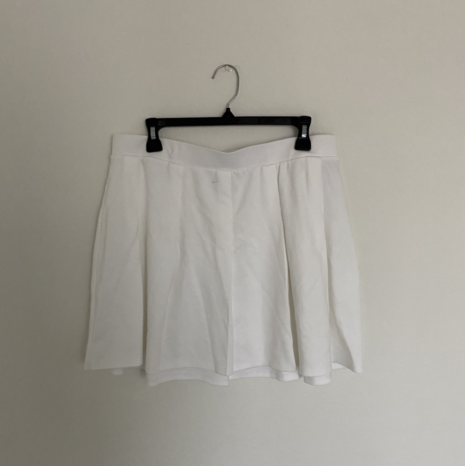 Product Image 1 - y2k white pleaded tennis skirt  (message