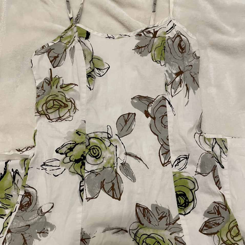 Product Image 1 - brown green and white sundress