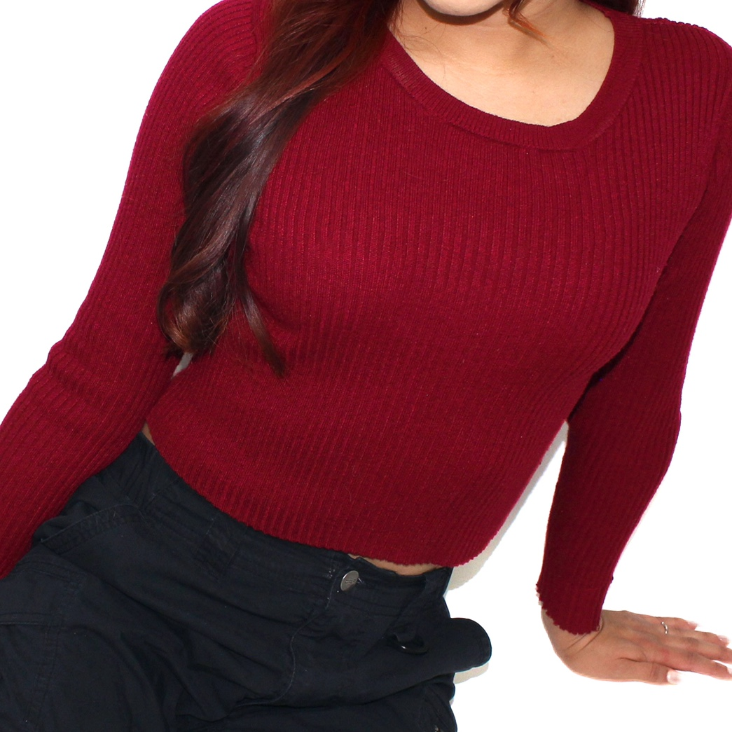 Product Image 1 - Ribbed Long Sleeve Crop Top.