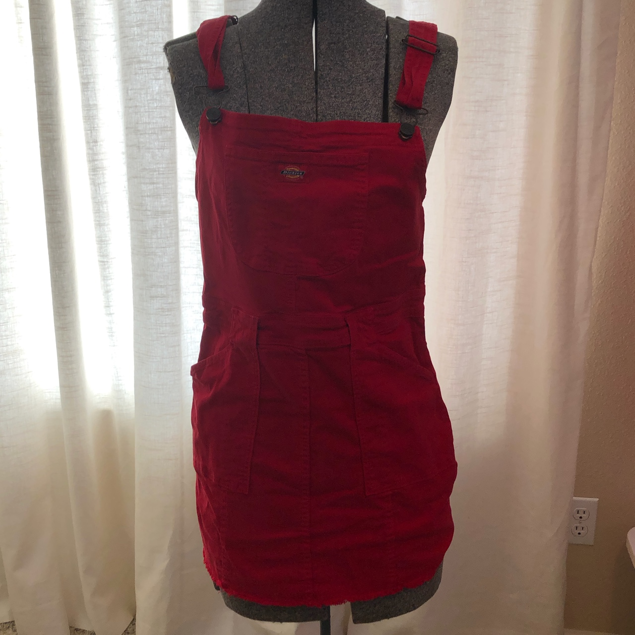 Product Image 1 - adorable bright red dickies overall/dress!