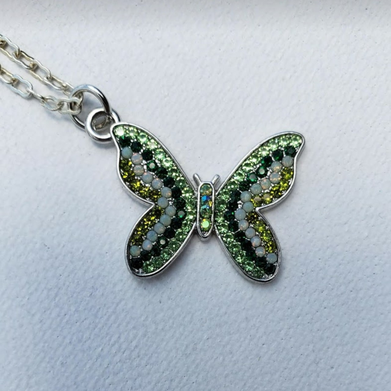 Product Image 1 - Butterfly Necklace. Silver look with