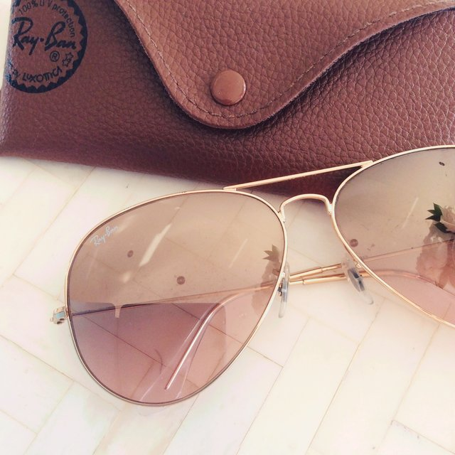 rose gold ray ban aviators. Black Bedroom Furniture Sets. Home Design Ideas