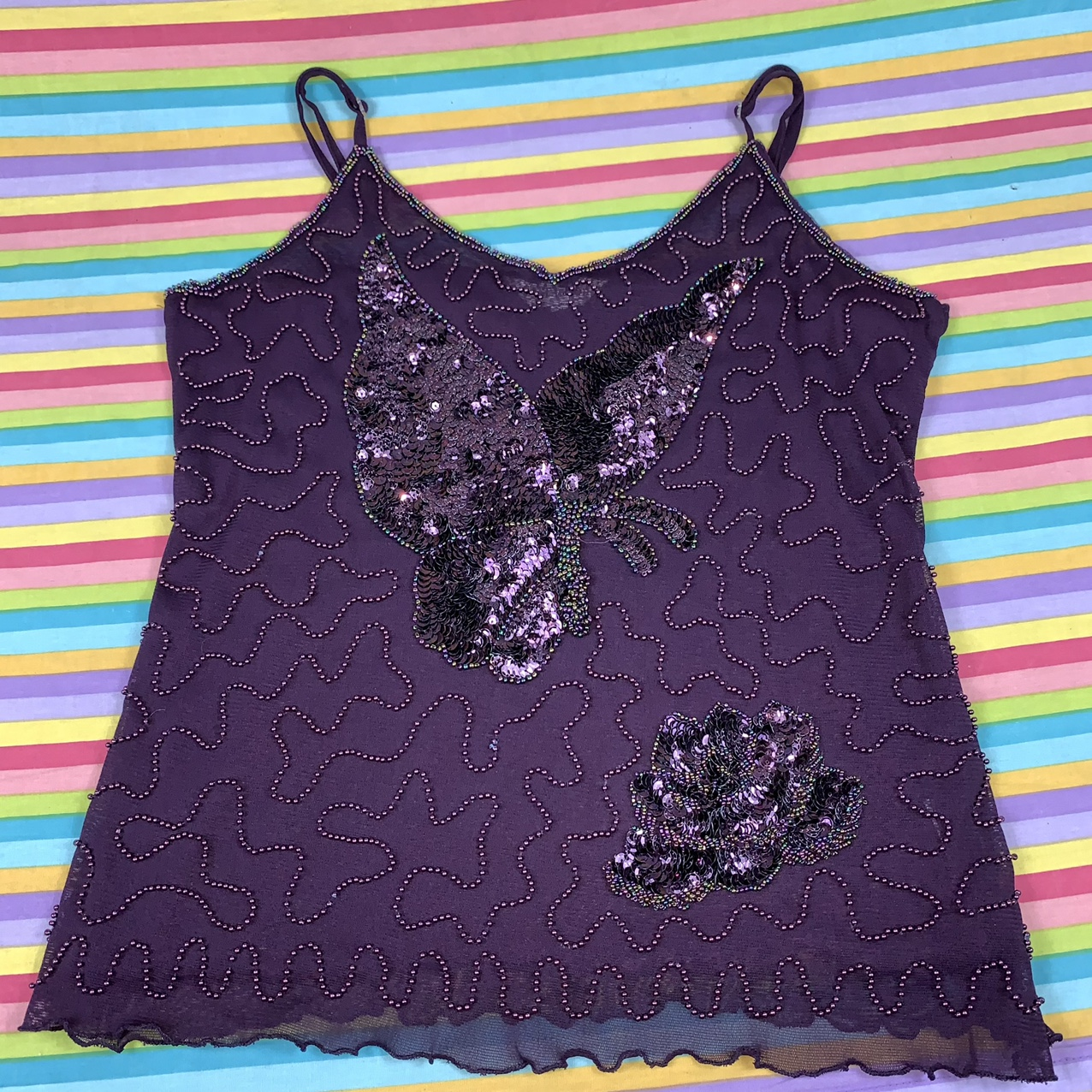 Product Image 1 - Vintage sheer mesh beaded cami