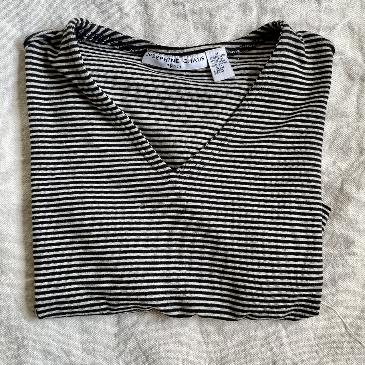 Product Image 1 - Vintage cropped horizontal striped tan