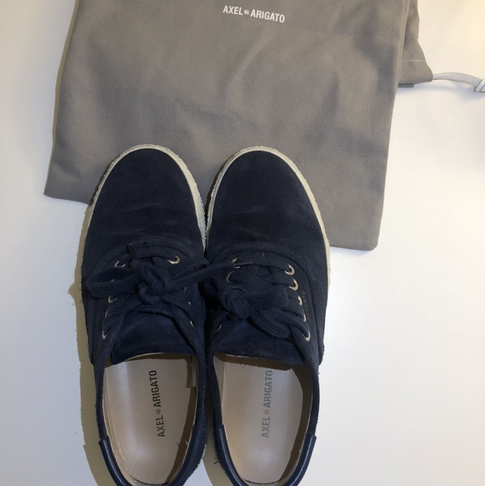 Product Image 1 - Axel Arigato Leather-Trimmed Suede Sneakers