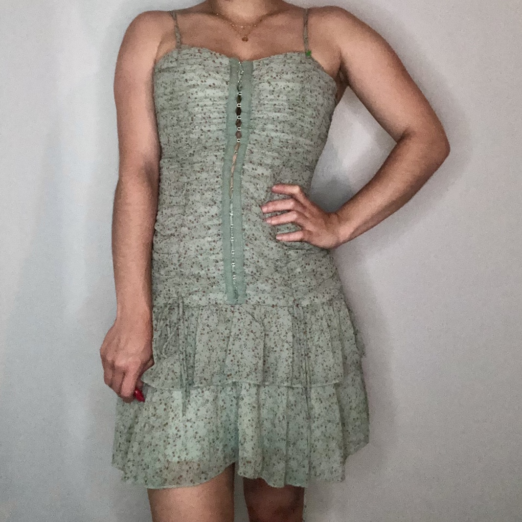 Product Image 1 - Sage Green Floral Corset Dress Perfect