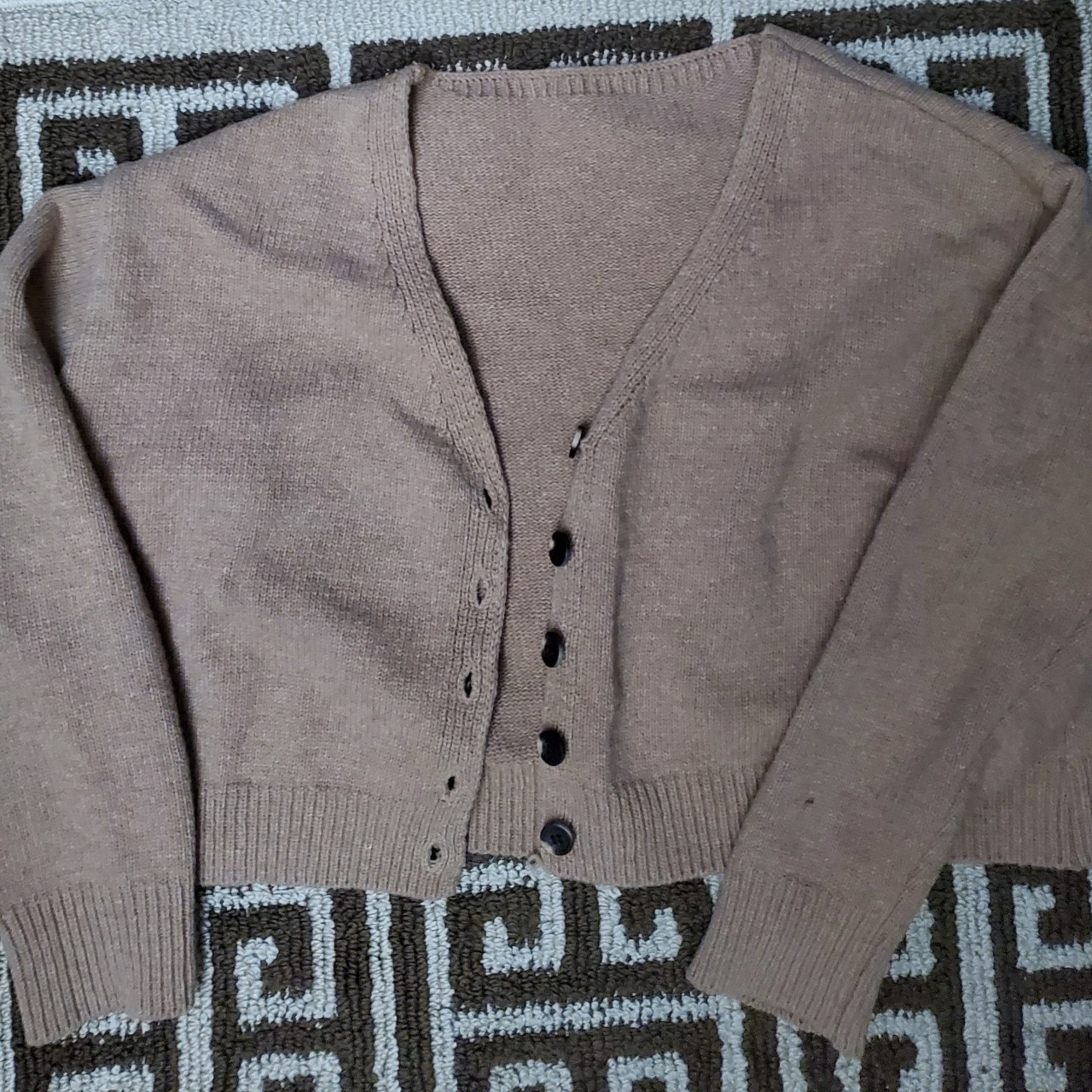 Product Image 1 - Brown cardigan. Buttons are functional
