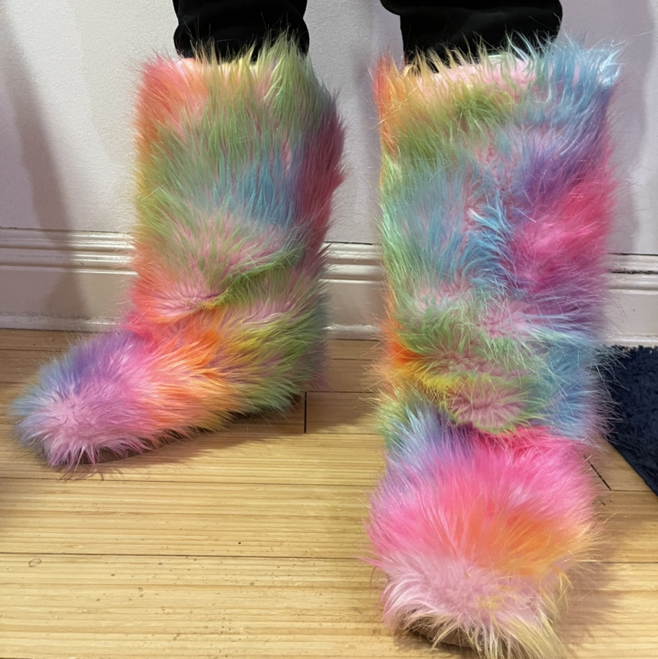 Product Image 1 - Rainbow tie dye boots -