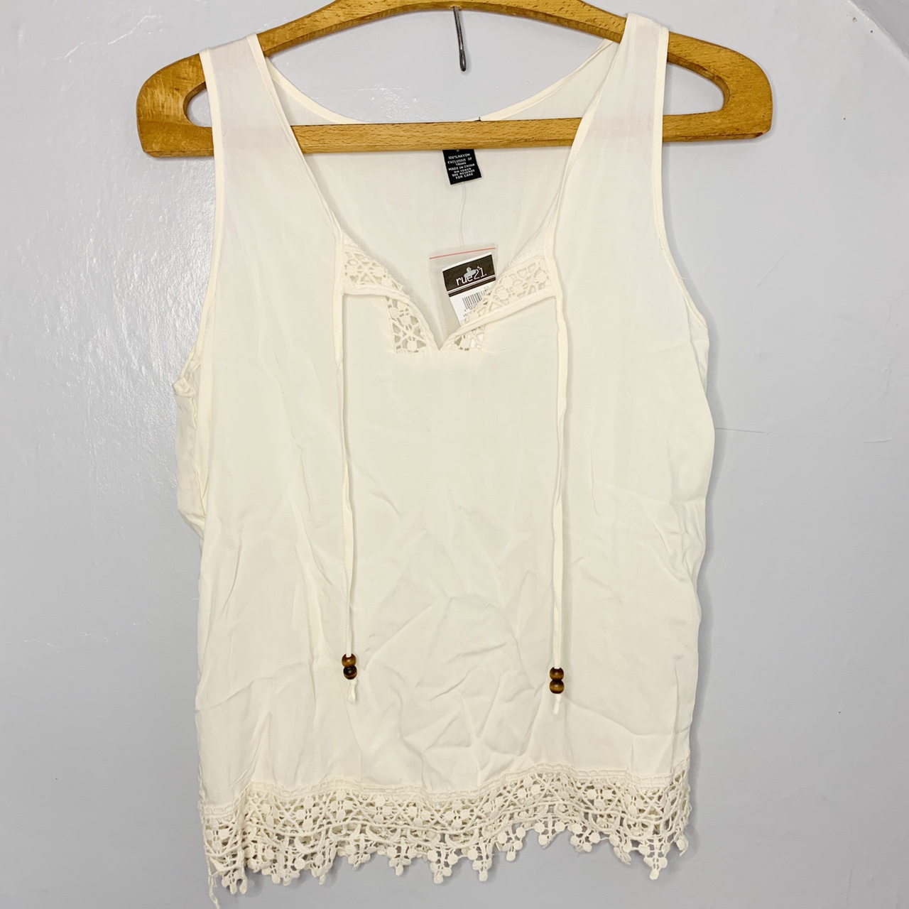Product Image 1 - Adorable cream colored tank top