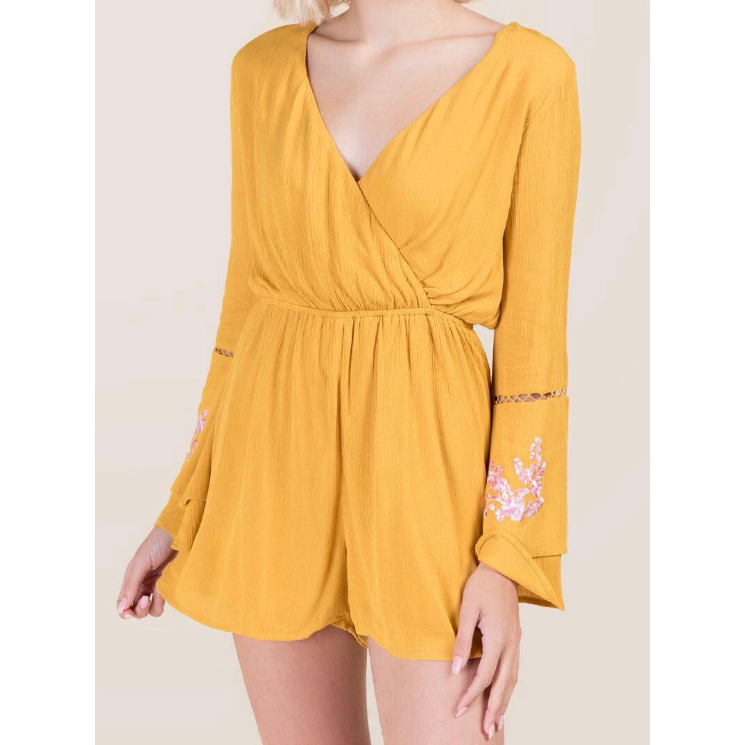 Product Image 1 - Yellow long sleeve romper from