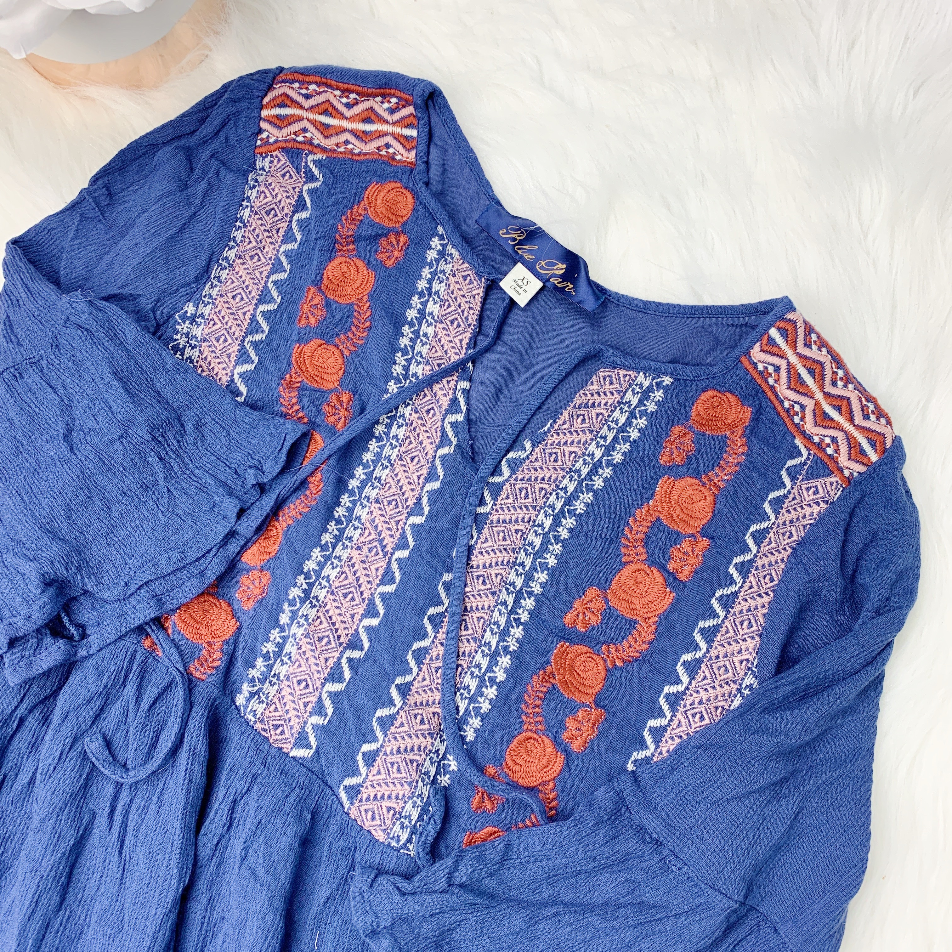 Product Image 1 - Navy detailed sewn design shift