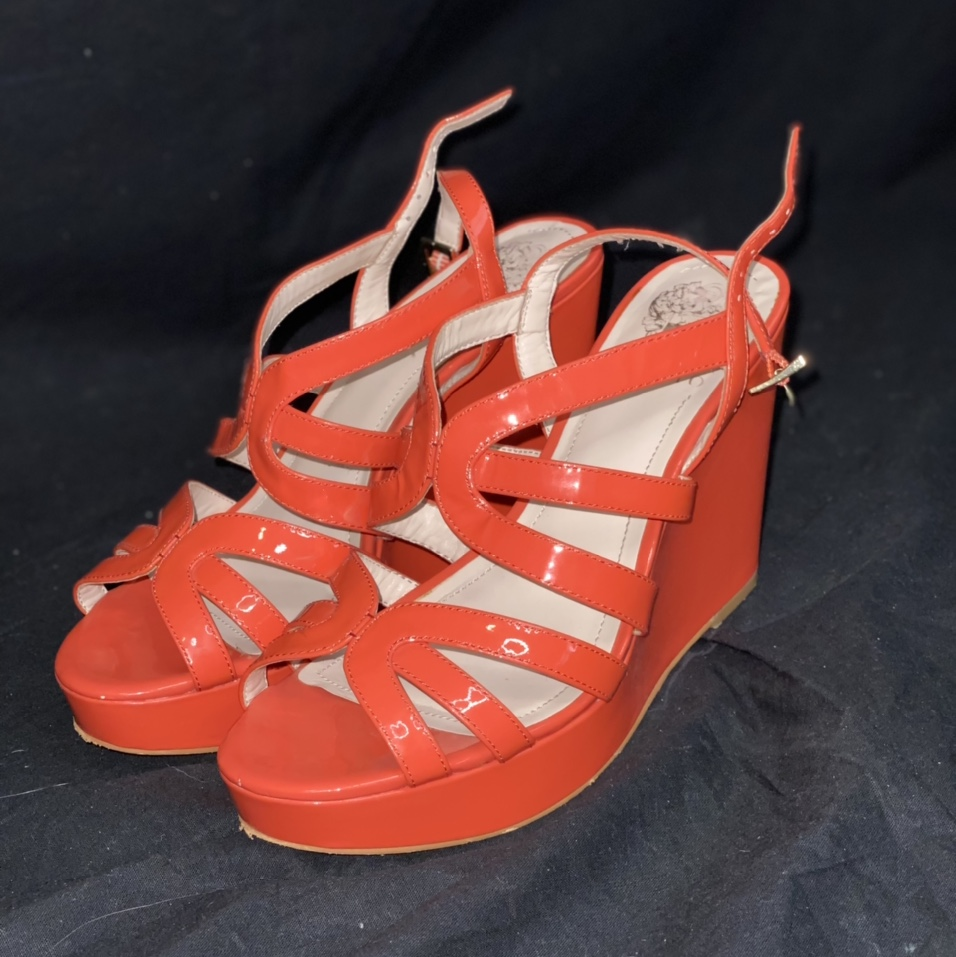 Product Image 1 - Vince Camuto Coral Wedges  FREE NEXT